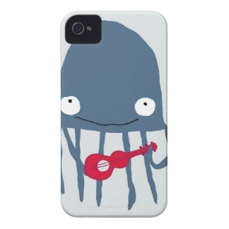 jellyfish with ukelele iPhone 4 Case-Mate case