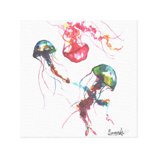 Jellyfishes Art Canvas Print