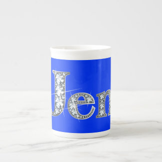 "Jen ""Diamond Bling"" Bone China Mug"
