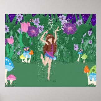 Jen the Dancing Flower Fairy Print