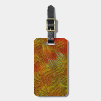 Jenday Conure Feather Abstract Luggage Tag