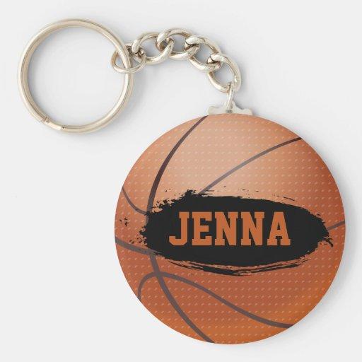 Jenna Grunge Basketball Key Chain / Key Ring