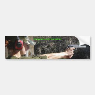 Jenna Gun Range Bumper Sticker