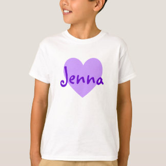 Jenna in Purple T-Shirt