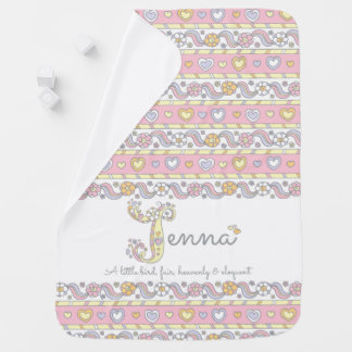 Jenna name meaning heart flower girl baby blanket