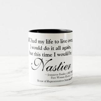 Jennette Rankin Nasty Woman Two-Tone Coffee Mug