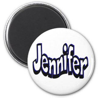 Jennifer 6 Cm Round Magnet