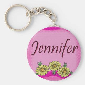 Jennifer Daisy Keychain