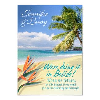 Jennifer EMERALD WATERS Belize reception (linen) 11 Cm X 16 Cm Invitation Card