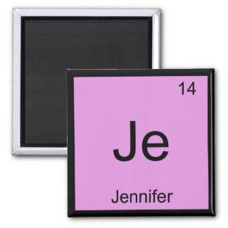 Jennifer  Name Chemistry Element Periodic Table Magnet