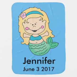 Jennifer's Personalized Mermaid Baby Blanket