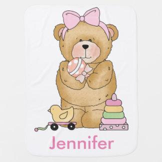 Jennifer's Teddy Bear Personalized Gifts Receiving Blankets