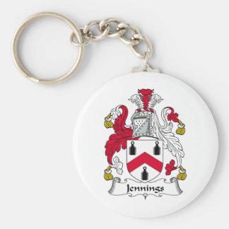 Jennings Family Crest Keychain
