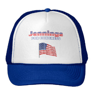 Jennings for Congress Patriotic American Flag Hats