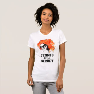 """Jenni's Little Secret"" Redhead Lettered T-Shirt"