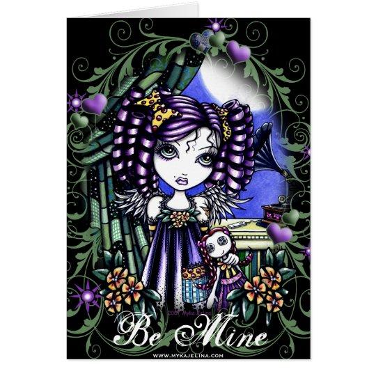 Jenny Cute Valentine Rag Doll Angel Card