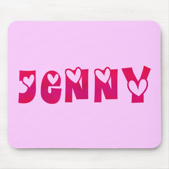 Jenny in Hearts Mouse Mat