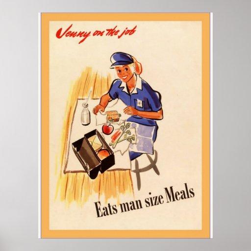 Jenny On The Job ~ Vintage World War 2 Poster
