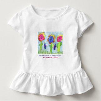JennyLU Designs Sunflowers & Buggerflies  kids Toddler T-Shirt