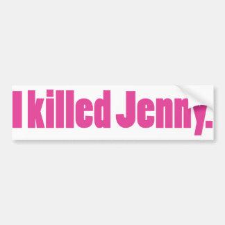 JennyPink Bumper Sticker