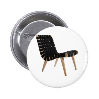 JENS RISOM by Knoll Mid-Century Modern Strap Chair 6 Cm Round Badge