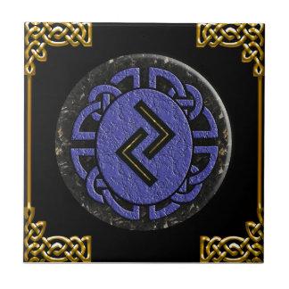 """""""jera"""" elder futhark small square tile"""