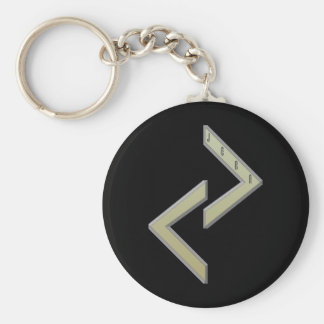 Jera Rune gold Key Ring
