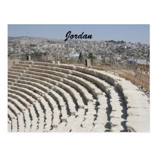 jerash roman amphitheater postcard