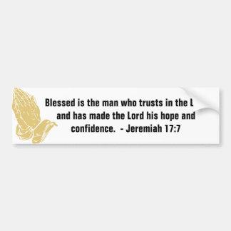 Jeremiah 17:7 Bumper Stickers