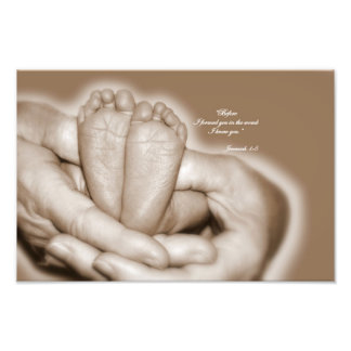 Jeremiah 1:5  Before I formed you in the womb Photographic Print