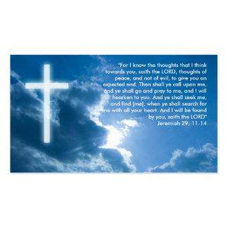 Jeremiah 29 11-14 - Christian Business Card