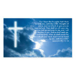 Jeremiah 29; 11-14   Christian Pack Of Standard Business Cards