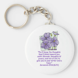Jeremiah 29:11 basic round button key ring