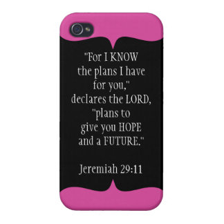 Jeremiah 29 11 Bible Verse iPhone 4 Case Black
