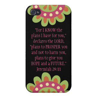 Jeremiah 29 11 Bible Verse iPhone Black Pink Case iPhone 4 Covers