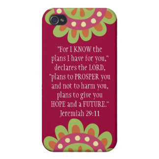 Jeremiah 29 11 Bible Verse iPhone Hot Pink Case iPhone 4 Covers