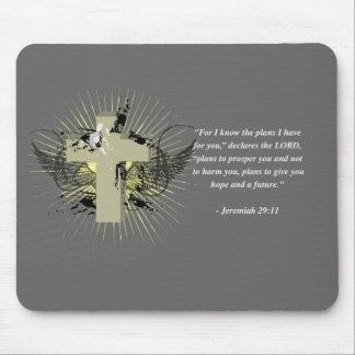 JEREMIAH 29:11 Bible Verse Mousepads