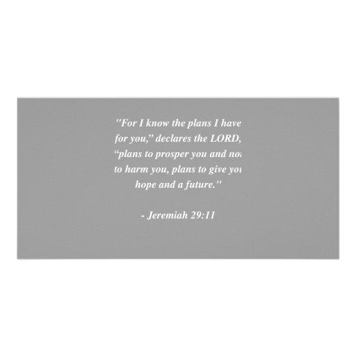 JEREMIAH 29:11 Bible Verse Photo Greeting Card
