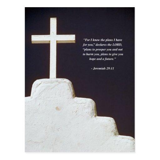 JEREMIAH 29:11 Bible Verse Postcard