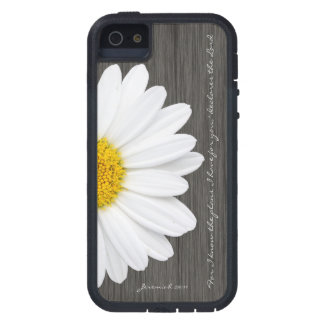 Jeremiah 29:11 Bible Verse, Rustic Daisy iPhone 5 Cover
