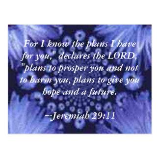 Jeremiah 29 11 Blue Daisy Post Card