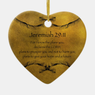 Jeremiah 29:11 ceramic heart decoration