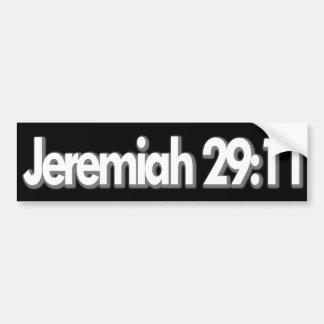 Jeremiah 29:11 Christian Bumper Sticker