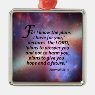 Jeremiah 29:11 christmas ornament