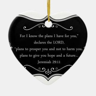 Jeremiah 29:11 Custom Christian Gift Ceramic Heart Decoration