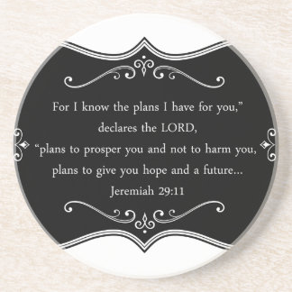 Jeremiah 29:11 Custom Christian Gift Drink Coaster