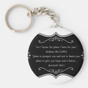 Christian gifts gift ideas zazzle uk jeremiah 2911 custom christian gift key ring negle Images