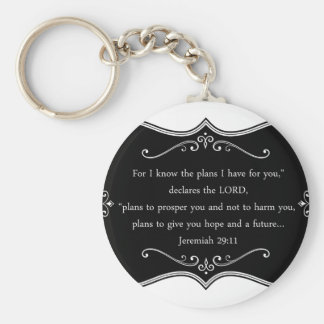 Jeremiah 29:11 Custom Christian Gift Key Ring