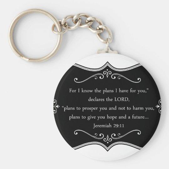 Jeremiah 29:11 Custom Christian Gift Key Ring
