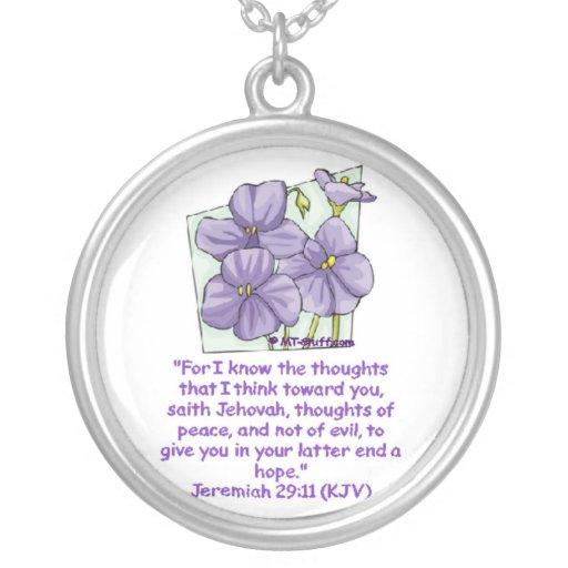 Jeremiah 29:11 custom necklace